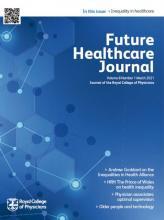 Future Healthcare Journal: 8 (1)